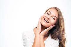 2 200mm 70 8l καλυμμένες χαμογελώντας usm νεολαίες γυναικών κανόνων φ πορτρέτο Στοκ εικόνες με δικαίωμα ελεύθερης χρήσης