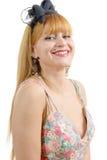 2 200mm 70 8l καλυμμένες χαμογελώντας usm νεολαίες γυναικών κανόνων φ πορτρέτο Στοκ Φωτογραφία