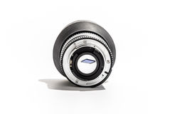 50mm lens back Memory card in Focus Royalty Free Stock Image