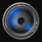 24mm lens in front. 24mm lens in front 3D rendering Stock Photos