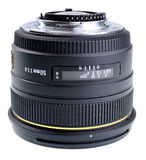 50mm lens isolated Royalty Free Stock Image