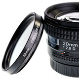 85mm lens isolated on white. Stock Photography