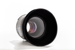 50mm lens white background Stock Photography