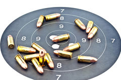 9mm Luger Ammunition Royalty Free Stock Photos