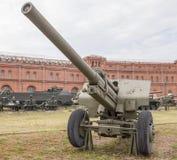 107- mm枪mod 1940年 (M-60) 库存照片