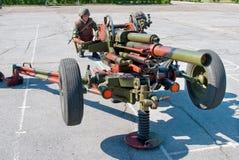 82-mm mortar Stock Image