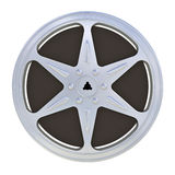 16 mm motion picture film reel. Isolated on white background stock illustration