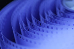 35mm motion picture film. 35 mm unprocessed film for cinematography stock photography