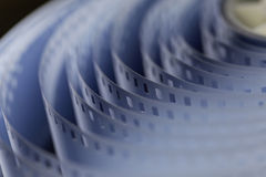 35mm motion picture film. 35 mm unprocessed film for cinematography stock images