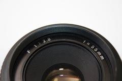 55mm motsvarighetlins i nära sikt Royaltyfria Bilder