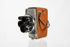 8mm Movie Camera. Old 8mm Movie Camera  on white Stock Image
