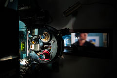 35 mm movie cinema projector machine with out of focus cinema sc Royalty Free Stock Photography