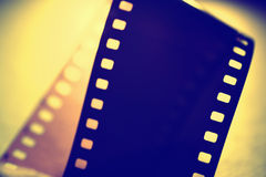 35 mm movie Film. Close up of 35 mm movie Film Stock Photos