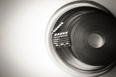 35 mm movie film reel  with little clapper Stock Images