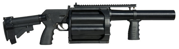40mm Multilanceerinrichtingswapen, Groot Geïsoleerd Kanon royalty-vrije stock foto