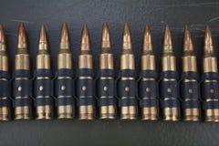 5.56mm NATO ammunition belt royalty free stock photos