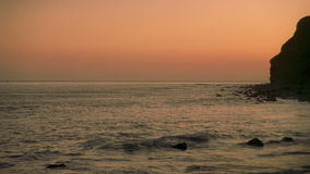 16mm Pacific Ocean Cliff stock video