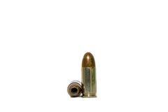 9 mm pistol bullet two shots Royalty Free Stock Photos