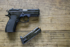 9MM pistool Royalty-vrije Stock Foto's