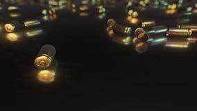 9mm pociska skorupy na Odbijającej powierzchni royalty ilustracja