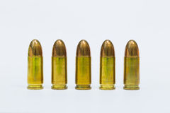 9mm. practice bulltes Royalty Free Stock Photos