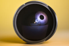 8mm prime fisheye lens Royalty Free Stock Photo