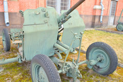25mm przeciwlotniczego pistoletu instalacja 1940 rok Obraz Royalty Free