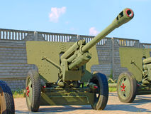 76-mm Russian division cannon gun ZiS3. Royalty Free Stock Image