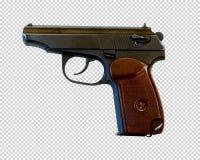 9mm self-loading PM van pistoolmakarov, transparante achtergrond, PNG stock afbeeldingen