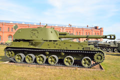 203 mm self-propelled cannon 2S7 Peony. Royalty Free Stock Photography