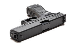 9mm semi-automatic pistol Stock Images