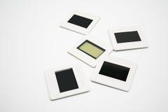 35mm slide film on white stock image