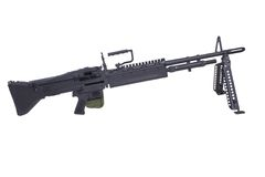 62mm som 7 maskinen för armékalibertrycksprutan m60 gjorde fortfarande oss USA att använda använt vietman, kriger Royaltyfria Bilder