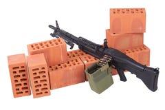 62mm som 7 maskinen för armékalibertrycksprutan m60 gjorde fortfarande oss USA att använda använt vietman, kriger Fotografering för Bildbyråer