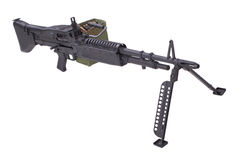 62mm som 7 maskinen för armékalibertrycksprutan m60 gjorde fortfarande oss USA att använda använt vietman, kriger Royaltyfri Foto