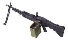 62mm som 7 maskinen för armékalibertrycksprutan m60 gjorde fortfarande oss USA att använda använt vietman, kriger Royaltyfri Bild