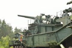 305mm spoorwegkanon tm-3-12 Stock Foto