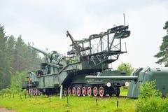 305mm spoorwegkanon tm-3-12 Royalty-vrije Stock Foto's