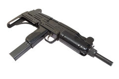 9mm submachine gun UZI Royalty Free Stock Images