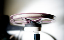 8mm super8 purple reel view from the top Royalty Free Stock Image