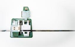8mm tappningskarvapparat med filmen Royaltyfria Foton