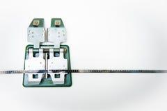 8mm tappningskarvapparat med filmen Fotografering för Bildbyråer