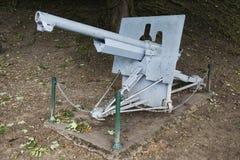 75mm vapen framme av den Verdun citadellen Royaltyfri Bild