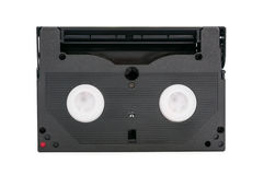 8mm videokassett på vit bakgrund Royaltyfria Bilder
