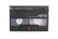 8mm Videokassette auf weißem Hintergrund Lizenzfreies Stockbild