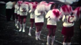 (8mm Vintage) High School Cheerleaders stock video