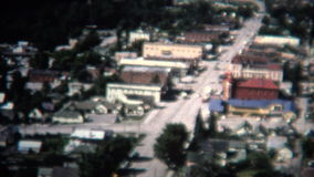 (8mm Vintage) 1966 Ouray Colorado Sign Aerial Town stock footage