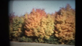 8mm Vintage - 60's Autumn Colors Pan. This footage is a home movie made in the early 1960's on 8mm film. The footage was played on a B&H automatic loading stock video footage