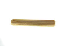 6 mm Wooden peg. On white background Royalty Free Stock Images