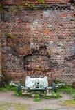 mm zbiornika pistolet w muzeum - fort liczba Pięć, Kaliningrad, Rosja obrazy royalty free